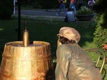 Żywa statua - butelka zbiory