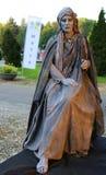 Żywa statua - cisza kamień zdjęcia royalty free