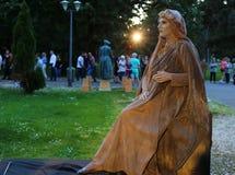 Żywa statua - cisza kamień zdjęcia stock