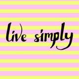 ` Żywego ` ręcznie pisany wektor na pasiastym tle po prostu Obraz Royalty Free