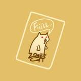 Żywego trupu kot z czerwonymi oczami Zdjęcia Stock