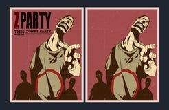 Żywego trupu partyjny zaproszenie ilustracja wektor