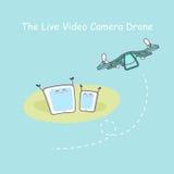 Żywego wideo cameradrone z smartphone Zdjęcia Stock