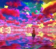 Żywi kolorowi odbicia ilustracji