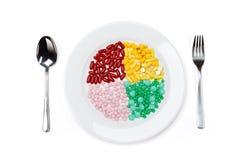 Żywienie, odizolowywający na białym tle fotografia stock