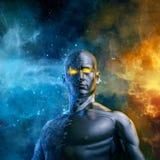 Żywiołowy galaktyczny bohater royalty ilustracja