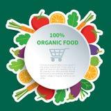 Żywność organiczna royalty ilustracja