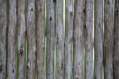 Żywność organiczna Ampuła, zmrok, stare drewniane deski z zieloną trawą Menu dla organicznie restauraci Tło dla ulotek, wino list Zdjęcie Royalty Free