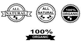 Żywność organiczna etykietki Obrazy Stock