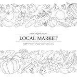 Żywność organiczna projekta szablon Zdjęcie Stock