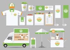 Żywności organicznej tożsamości brading egzamin próbny w górę szablonu Zdjęcia Royalty Free