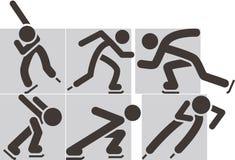Łyżwowa ikona Zdjęcia Stock