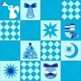 Żywy Bożenarodzeniowy świąteczny bezszwowy kołderka wzór Zdjęcia Stock