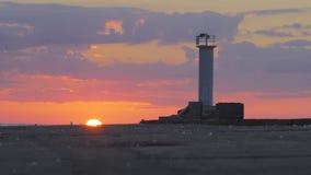 Żywy czasu upływ słońca położenie za falochronem zdjęcie wideo