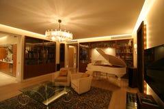 żywy fortepianowy pokój Fotografia Royalty Free