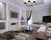 Żywy izbowy klasyka styl Fotografia Royalty Free