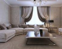 Żywy izbowy klasyka styl Zdjęcie Stock