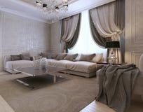 Żywy izbowy klasyka styl Obraz Stock