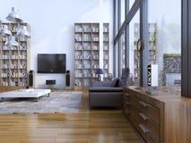 Żywy izbowy nowożytny styl Obrazy Stock