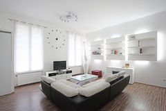 Żywy izbowy wewnętrzny projekt Fotografia Royalty Free