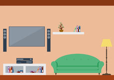 Żywy izbowy wewnętrzny projekt z meble Obraz Royalty Free
