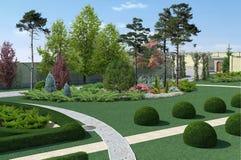 Żywy Izbowy Wewnętrzny minimalisty styl, 3D rendering Obraz Royalty Free