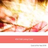 Żywy Koralowy kolor rok, Architektoniczny abstrakt royalty ilustracja