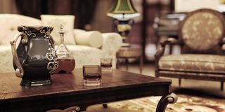 żywy luksusowy pokój Obrazy Royalty Free