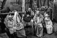 Żywy narodzenie jezusa w Canale Di Tenno, Włochy Zdjęcia Stock