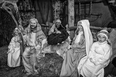 Żywy narodzenie jezusa w Canale Di Tenno, Włochy Fotografia Royalty Free