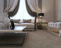 Żywy pokój, art deco projektuje, klasyka styl Zdjęcie Royalty Free