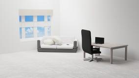 Żywy pokój 3d-illustration Zdjęcia Stock