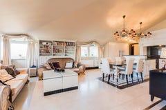 Żywy pokój w baroku stylu Zdjęcie Stock