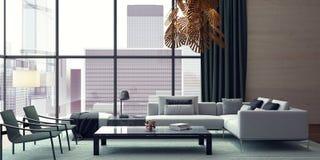 Żywy pokój, wewnętrzny projekt Obraz Stock