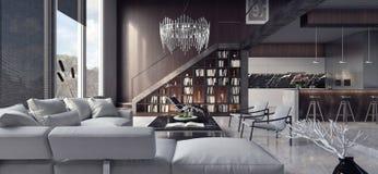 Żywy pokój, wewnętrzny projekt Fotografia Stock