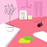 Żywy pokój z ampuła puszkującą rośliną Fotografia Stock