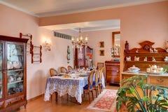 Żywy pokój z boże narodzenie dekoracją Zdjęcie Stock