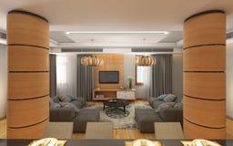 Żywy pokój z Dwa kanapami Zdjęcia Stock