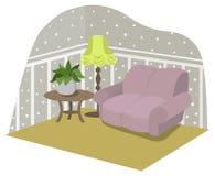 Żywy pokój z meble Zdjęcie Royalty Free