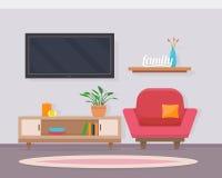 Żywy pokój z meble ilustracji