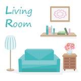 Żywy pokój z tekstem Zdjęcia Royalty Free
