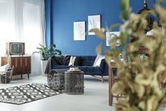 Żywy pokój z TV zdjęcia stock