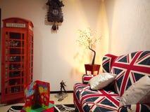Żywy pokoju domu wystrój Zdjęcie Royalty Free