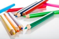 Żywy skład kolorów ołówki Zdjęcia Stock