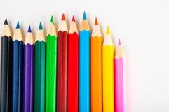 Żywy skład kolorów ołówki Fotografia Stock