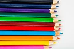 Żywy skład kolorów ołówki Obrazy Stock