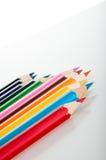 Żywy skład kolorów ołówki Fotografia Royalty Free