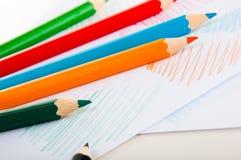 Żywy skład kolorów ołówki Obrazy Royalty Free
