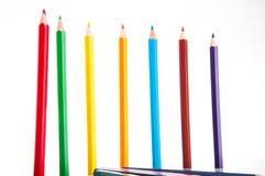 Żywy skład kolorów ołówki Zdjęcia Royalty Free
