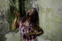 Żywy trup dziewczyna Zdjęcia Stock